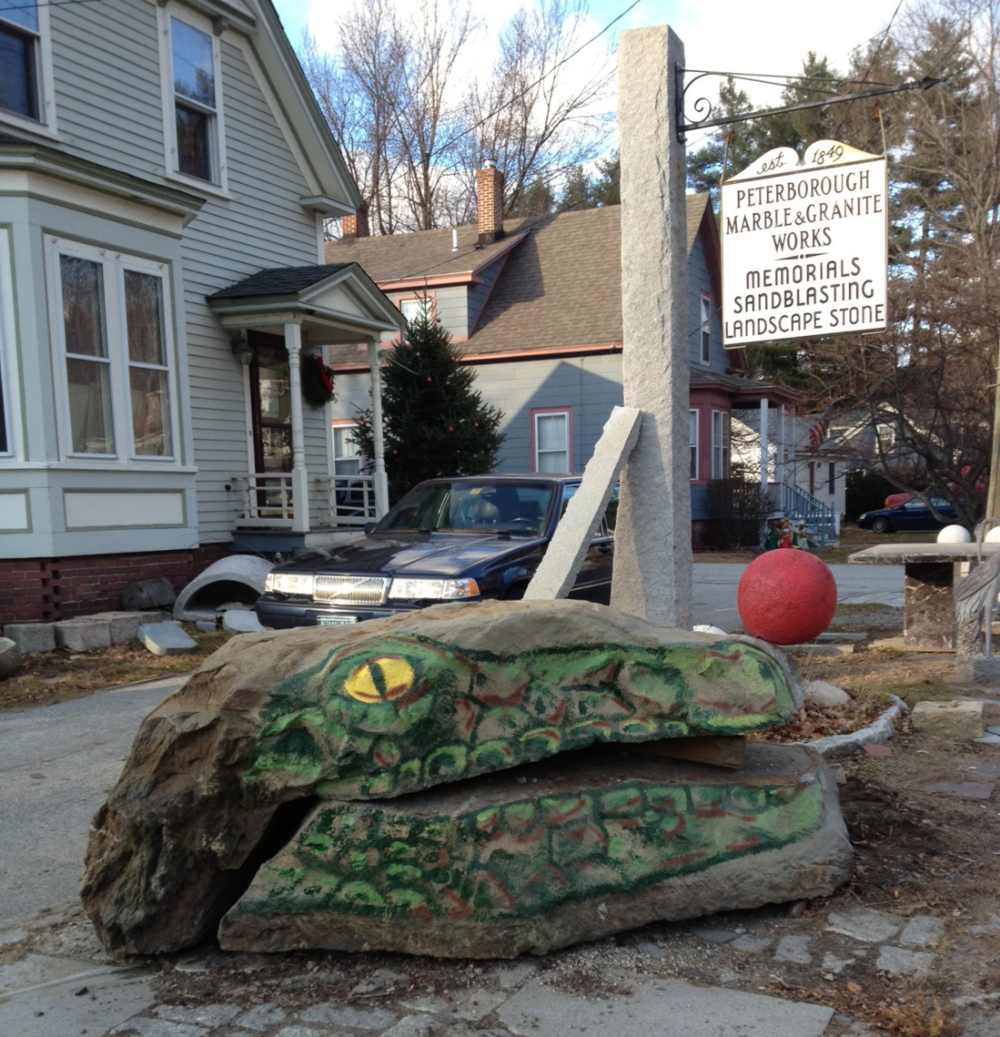 """Croc Rock"" Boulder  - Art Collaboration by local Artist Chad Creighton and PMGW"