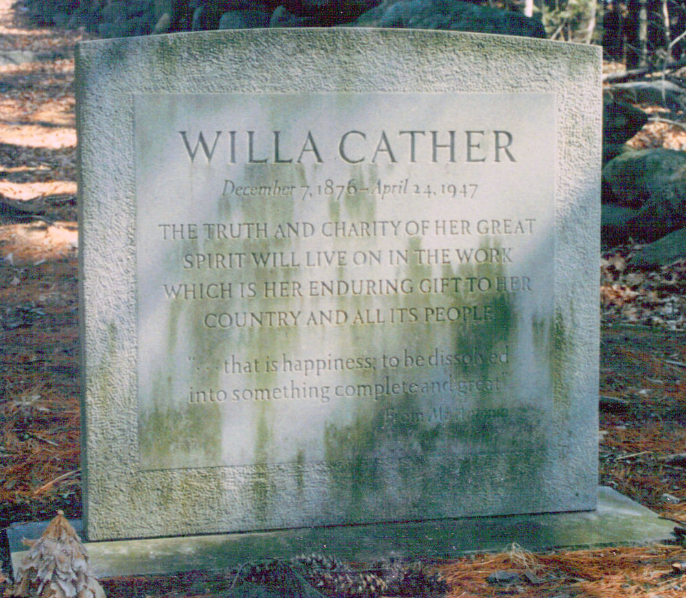 Willa Cather Monument  Old Burying Ground, Jaffery, New Hampshire