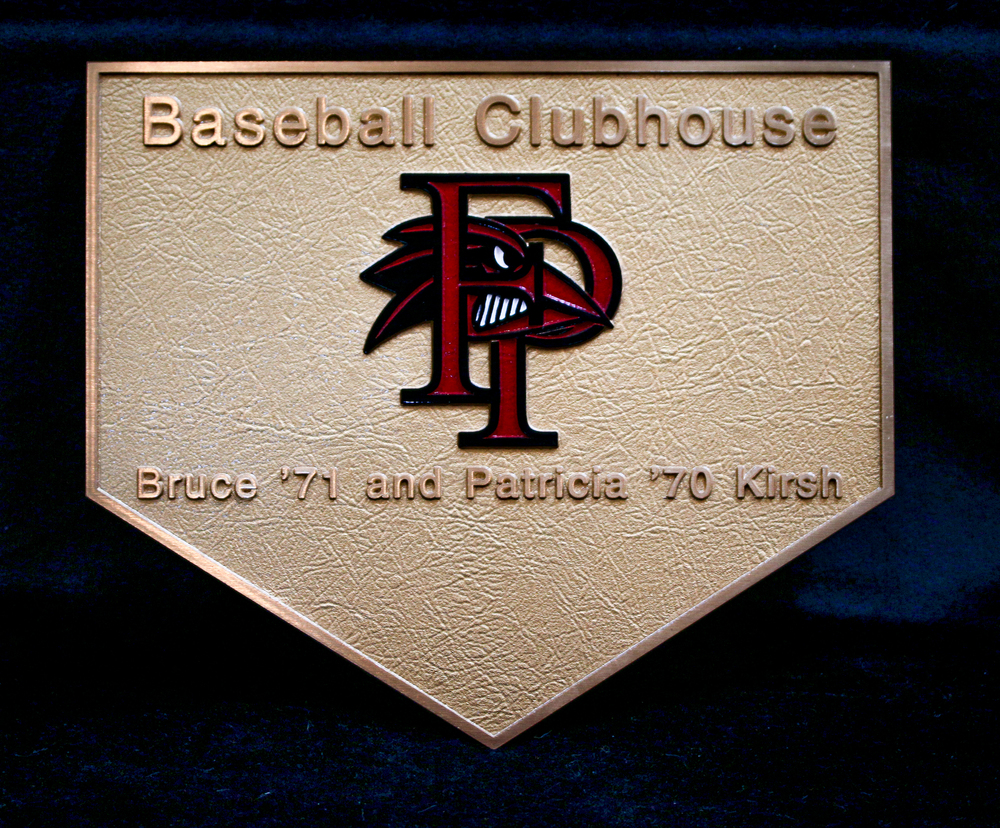 Home Plate Clubhouse Plaque
