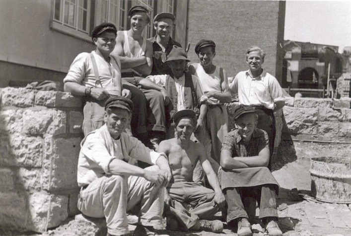 Hans (front row-right) in Germany