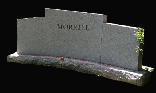 Custom Curve NH Granite Monument