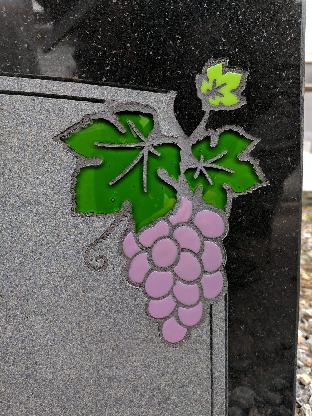 Grapes Glass Inlay (Wet)