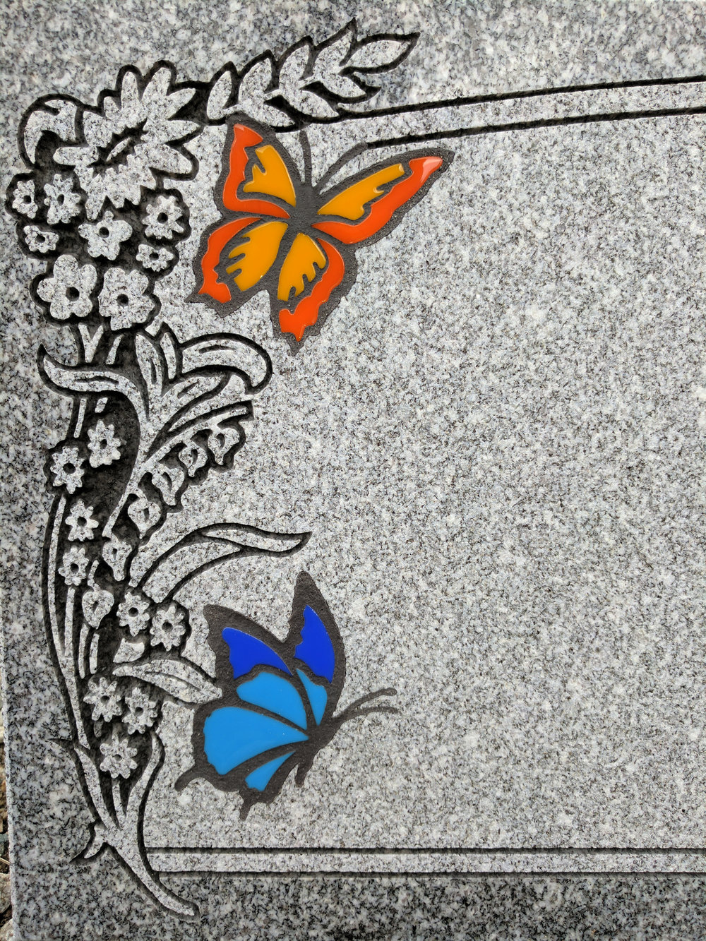 Butterfly Glass Inlays (Dry)