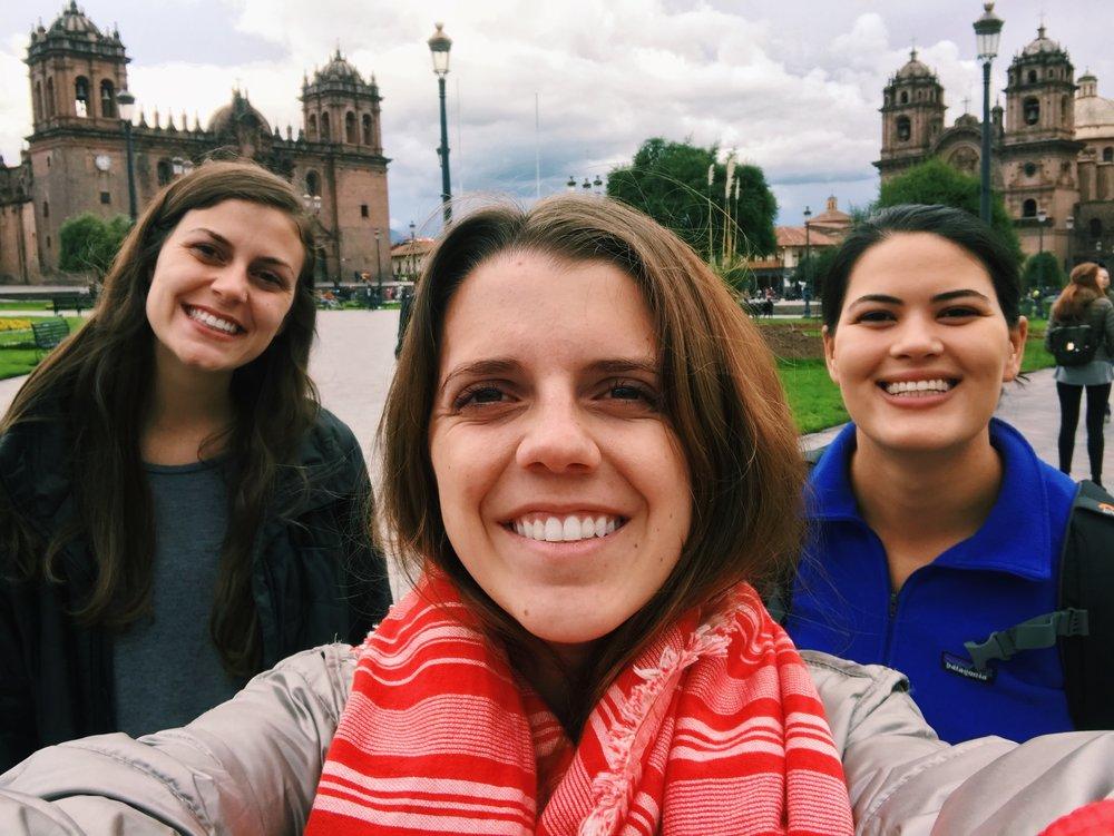 Samantha, Reagan, and I in Cusco.