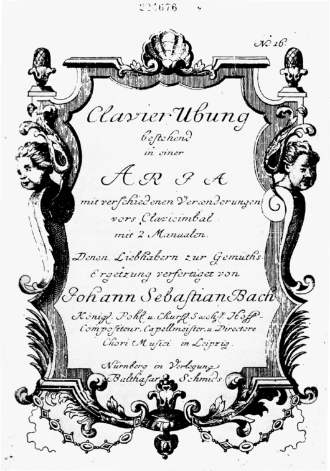 Title Page for the Goldberg Variations