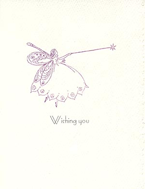 Letterpress Birthday Card Fairy Godmother MUSEUM FACSIMILES