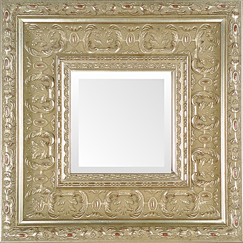 Silver Leaf Ornate Museum Frame Mirror — MUSEUM FACSIMILES