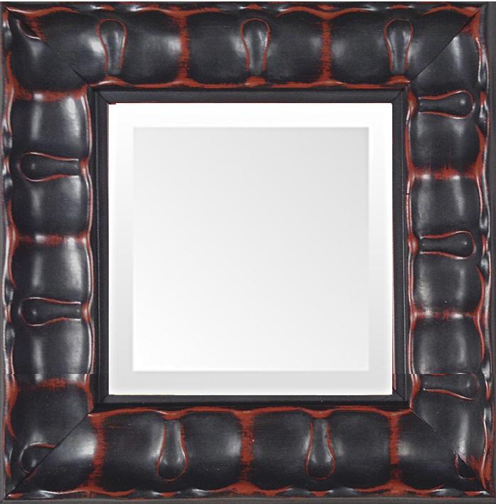 black piecrust small decorative mirror museum facsimiles. Black Bedroom Furniture Sets. Home Design Ideas