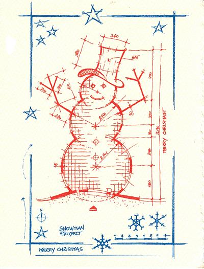 letterpress christmas cards architectural snowman.jpg