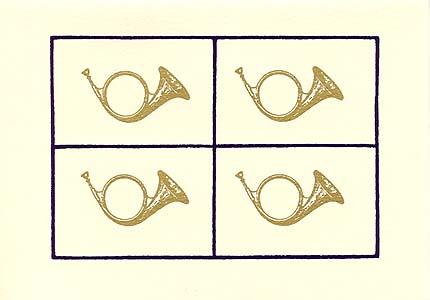 Silkscreen elegant gold french horns holiday cards museum facsimiles silkscreen elegant gold french horns holiday cards m4hsunfo