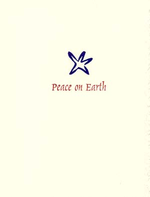 imagine peace on earth letterpress holiday cards letterpress christmas - Peace On Earth Christmas Cards