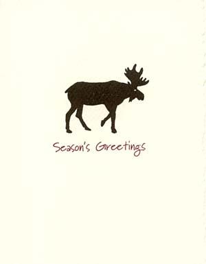 moose letterpress holiday cards letterpress christmas