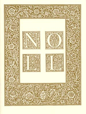 elegant gold william morris letterpress elegant christmas card - Elegant Christmas Cards