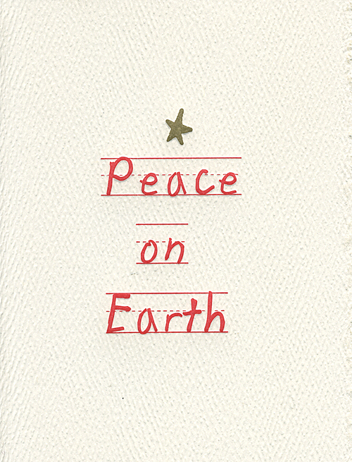 peace on earth letterpress holiday cards museum facsimiles