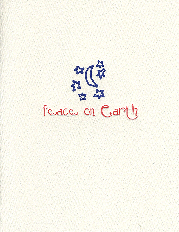 peace on earth stars letterpress holiday cards museum facsimiles