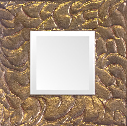 gold leaf small decorative mirror quality made in usa - Small Decorative Mirrors