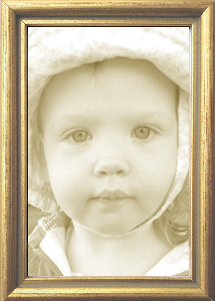 Thin Gold Leaf Contemporary Picture Frame — MUSEUM FACSIMILES