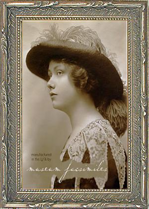Narrow Vintage Silver Leaf Victorian Picture Frames Museum Facsimiles