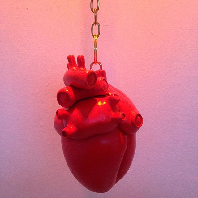 Heart on a Chain #humansoup  #rycbrown #heartart ##heartsculpture #subtleanatomy
