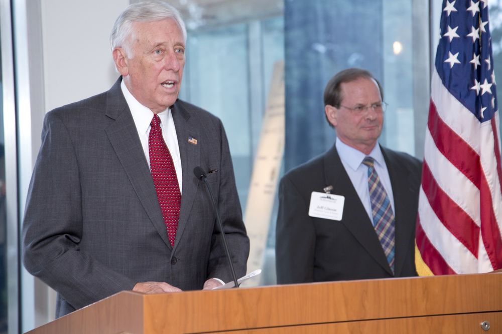 Honorary Chairman Steny Hoyer presiding over the Citizen of the Year Award Ceremony.