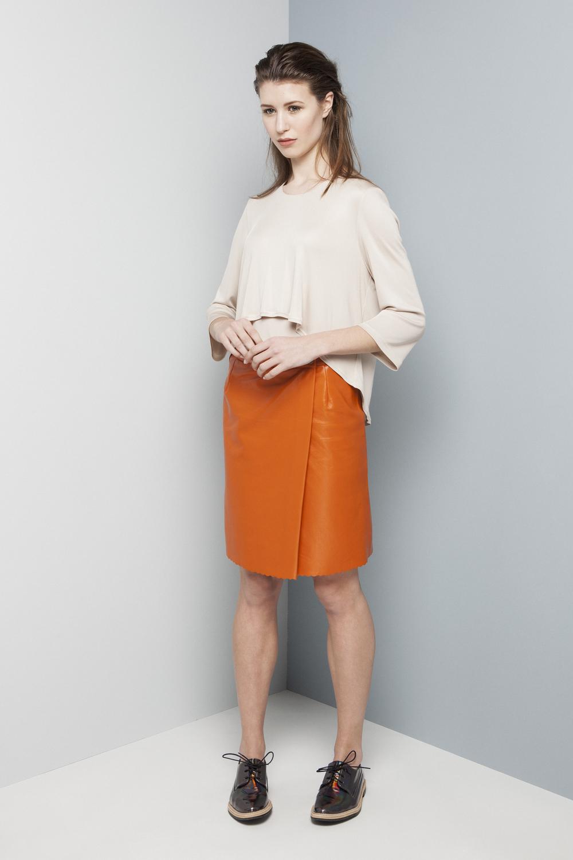 Manley AW14 Elsie Jumper €169 and Rylie Skirt (orange) €286.jpg