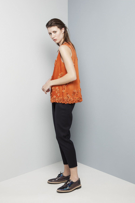 Manley AW14 Elsie Perforated Top (orange) €429 and Abbie Pants €275 (1).jpg