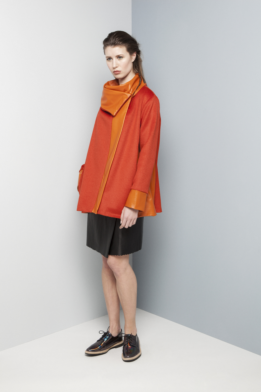 Manley AW14 Rylie Coat (orange) €590 and Rylie Skirt (black) €286.jpg