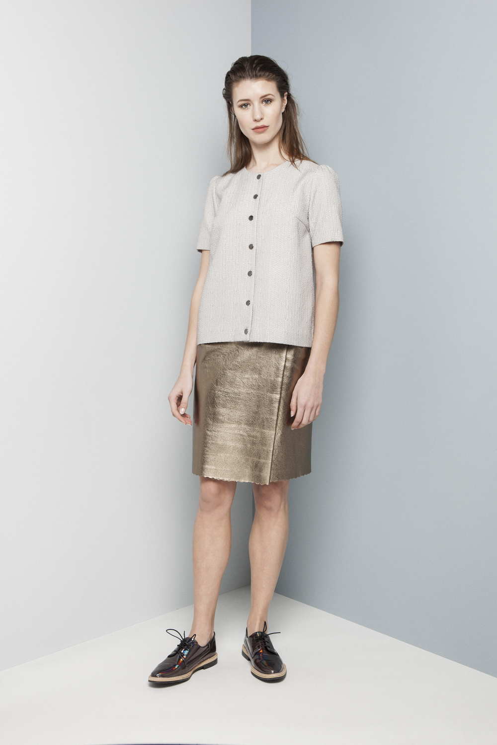 Manley AW14 Rylie Jacket €195 and Rylie Metallic Skirt (pewter) €286.jpg