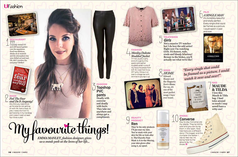 UMagazineMar2013MyFavouriteThings.jpg