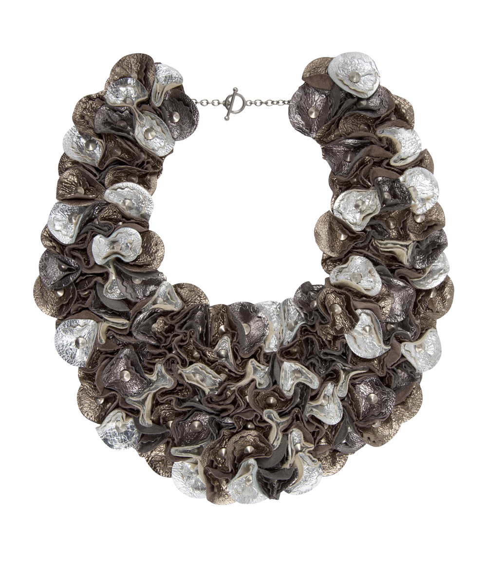 Rylie Metallic Collar /// Pewter