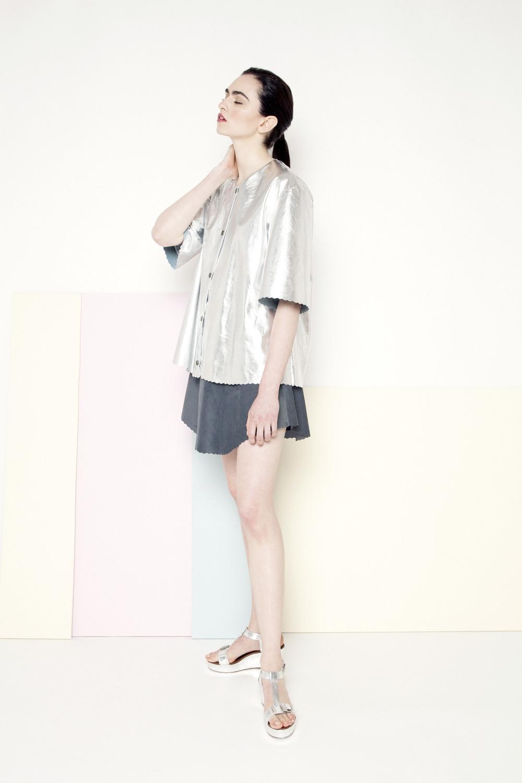Manley SS1 Sian Metallic Coat €399 Mila Skirt €275.jpg