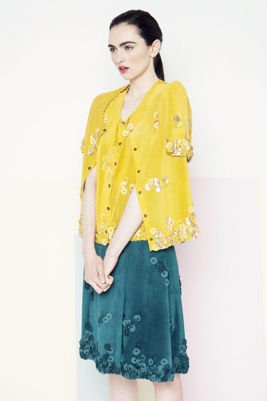 Sian Petal Jacket /// Sunflower Yellow