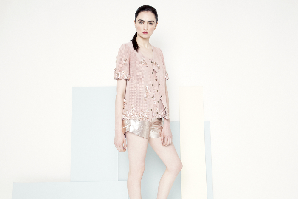 Sian Petal Jacket /// Powder Pink