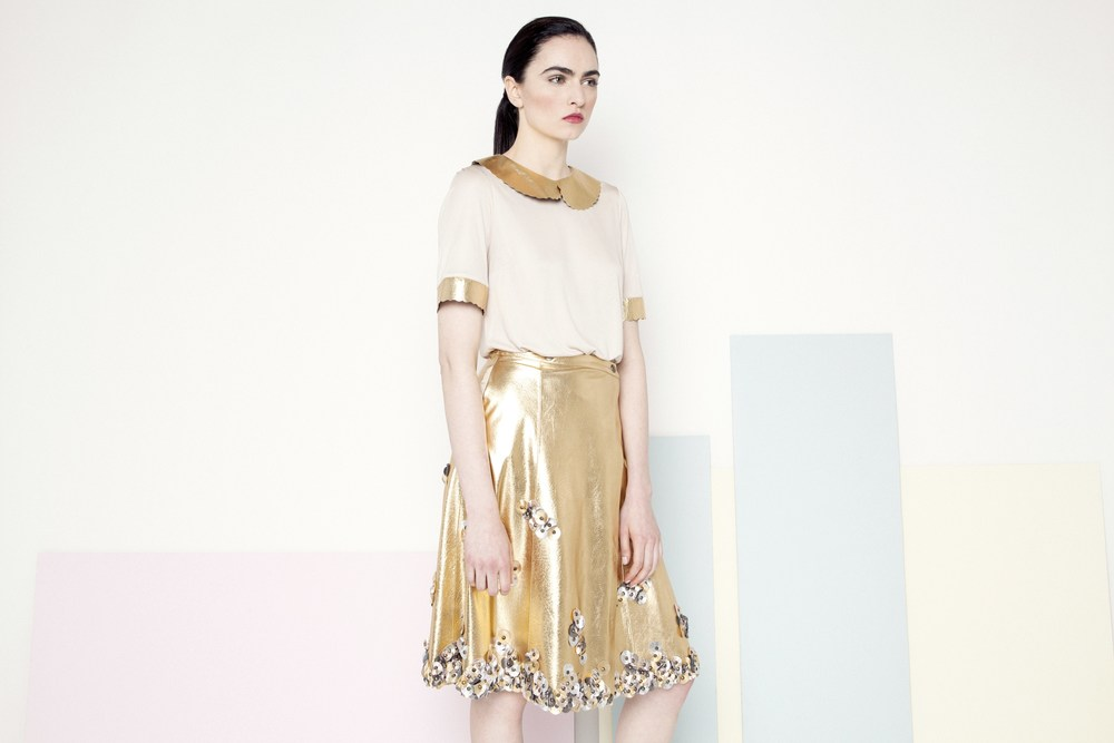 Sian Petal Skirt /// Gold