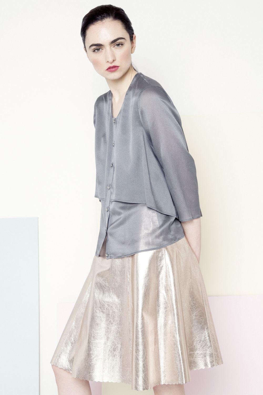 Sian Metallic Skirt
