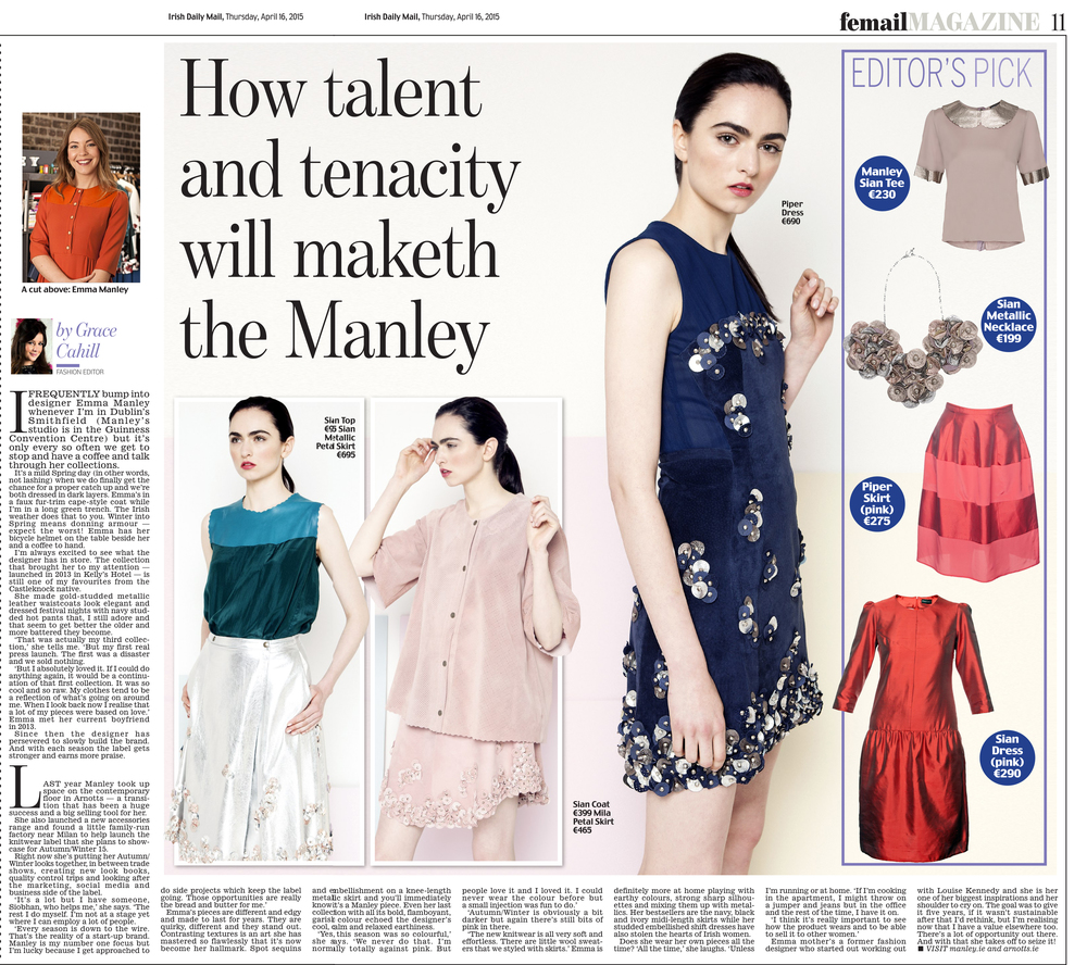 Irish Daily Mail Femil Mag 'How Tallent and Tenacity Will Maketh the Manley' - April 2015.jpg