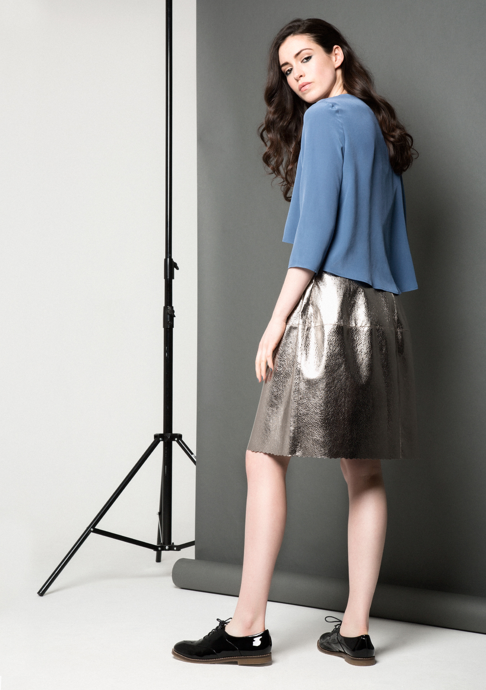 Lexi Bubble Skirt /// Silver