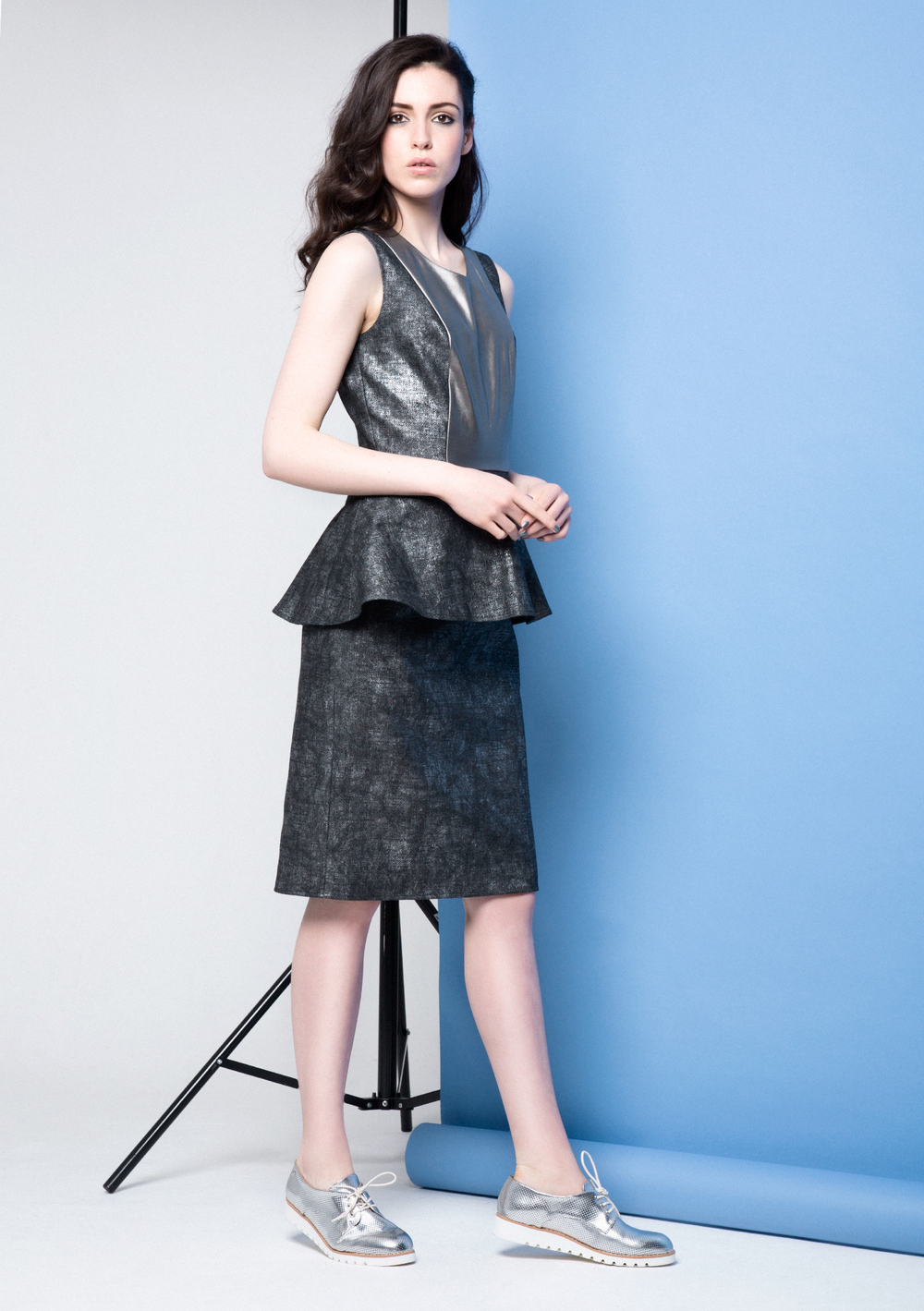 Lexi Leather Dress /// Silver