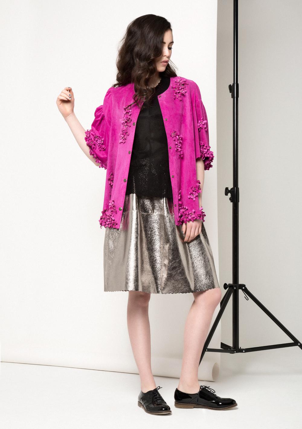 Maya Bow Coat /// Fuschia