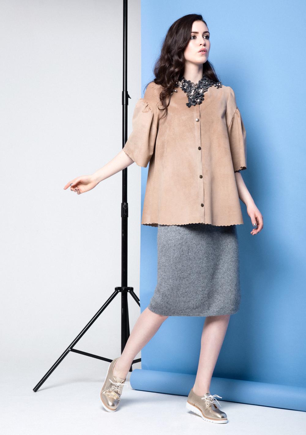 Maya Leather Coat /// Sand