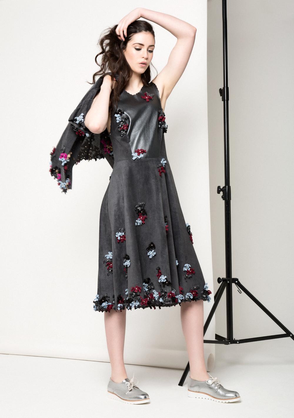 Carly Bow Dress /// Gunmetal