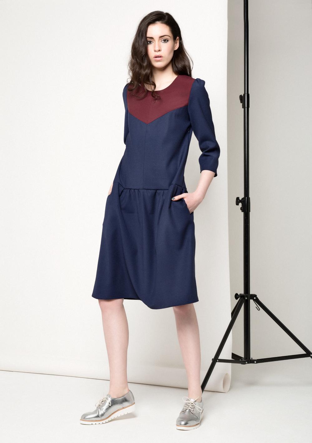 Robin Two Tone Dress