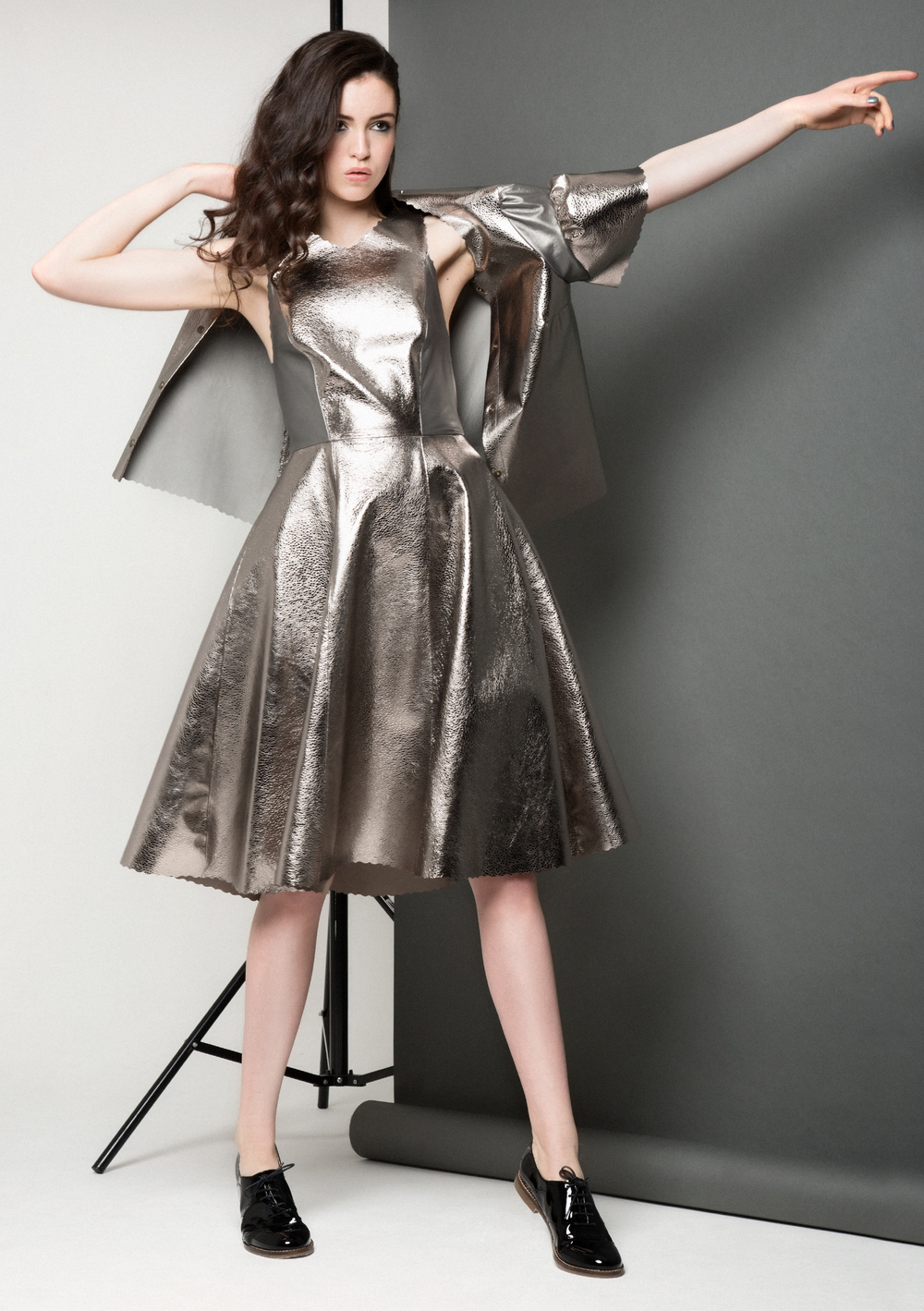 Carly Bubble Dress /// Silver
