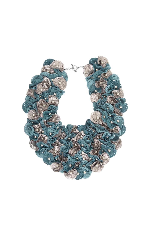 Piper Metallic Collar /// Teal