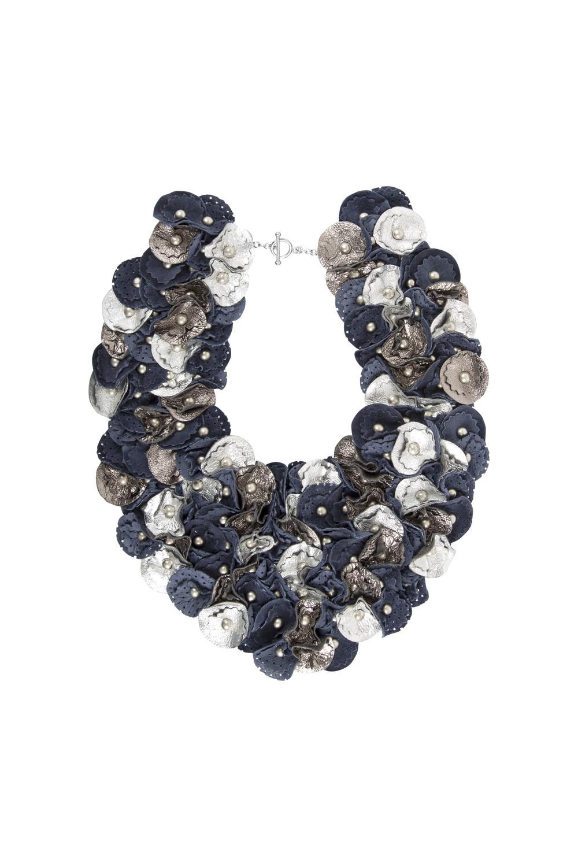 Piper Metallic Collar /// Navy
