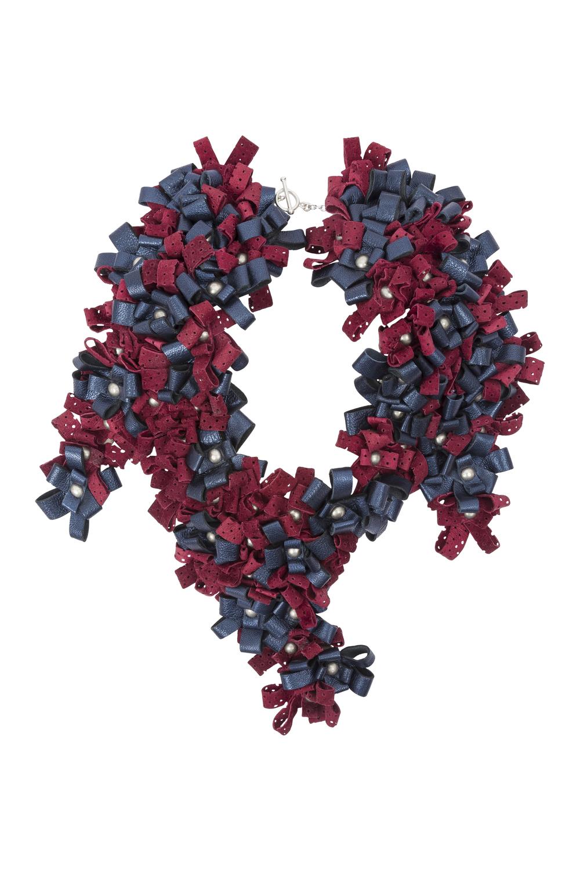 Maya Necklace /// Navy & Wine
