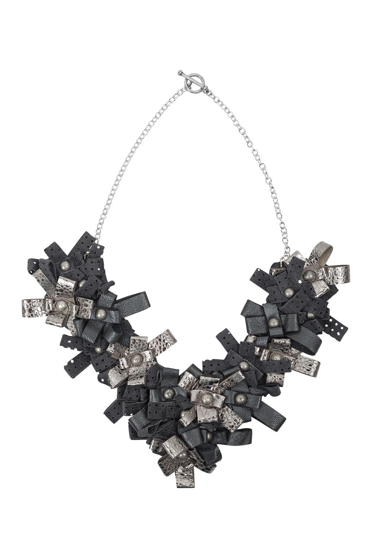Lexi Necklace /// Gunmetal & Silver