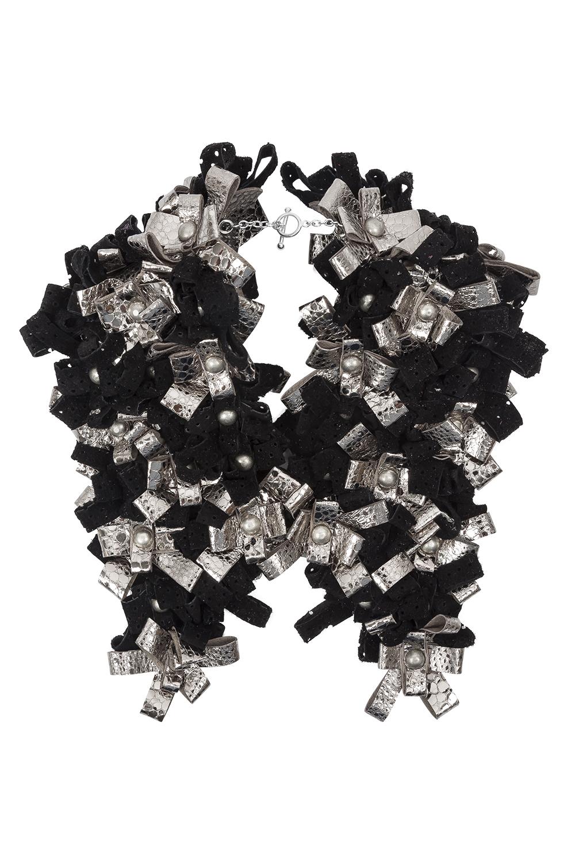 Carly Collar /// Black & Silver