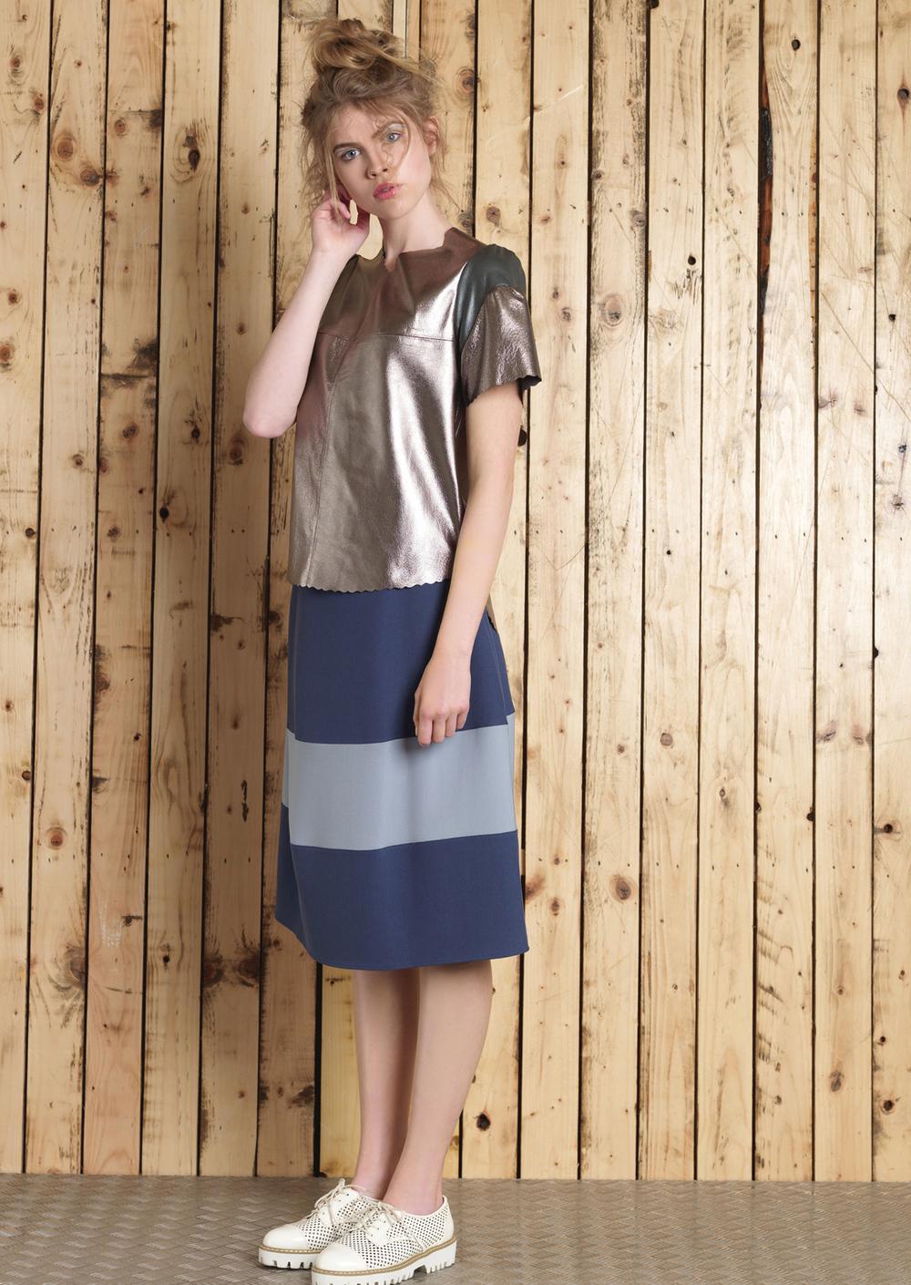 Erin Metallic Tee // Lana Skirt