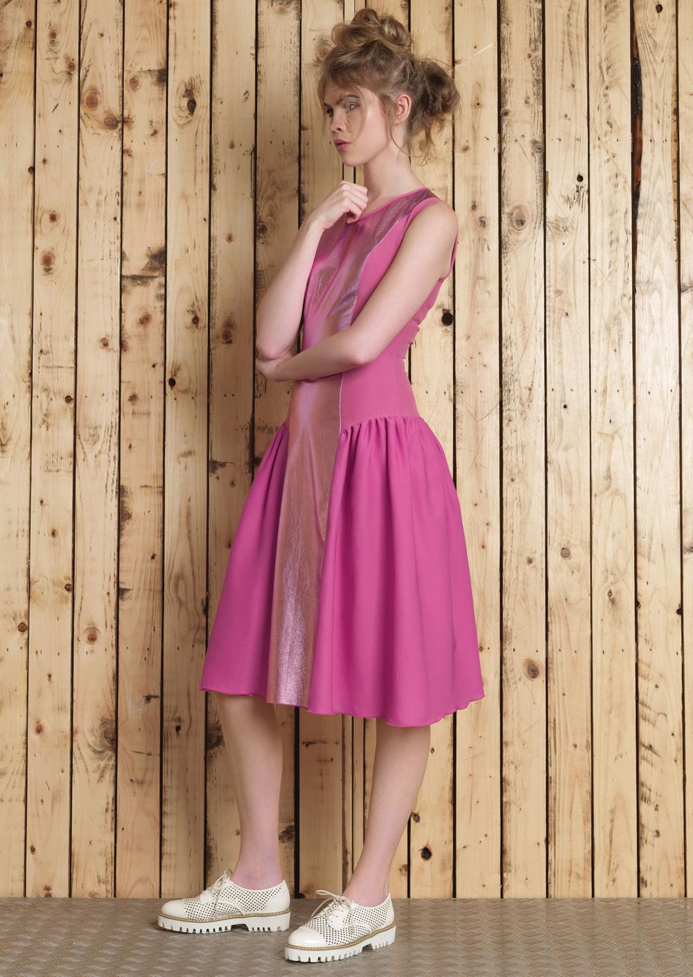 Cori Leather Dress